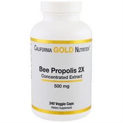 Пчелиный прополис Bee Propolis 2Х  240 капсул по 500 мг   California Gold Nutrition - фото 4738