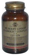 Solgar Bilberry Ginkgo Eyebright Complex Plus Lutein 60 капсул