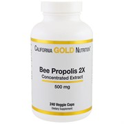 California Gold Nutrition Пчелиный прополис Bee Propolis 2Х  240 капсул по 500 мг