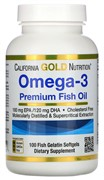 California Gold Nutrition Омега-3 100 капсул