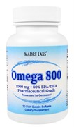 Madre Labs Omega-800 | Омега-800 1000 мг 30 капсул