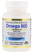 California Gold Nutrition Omega-800 | Омега-800 1000 мг 30 капсул