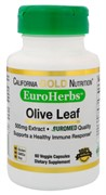 California Gold Nutrition Оливковые листья Olive Leaf Extract EuroHerbs 60 капсул по 500 мг